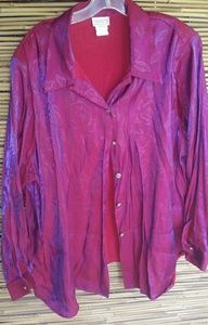 Beautuful Purple Pink Shimmer Top 28W Plus